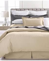 new charter club 500 tc damask stripe duvet comforter cover twin natural ivory charterclub