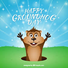 cartoon groundhog background vector free download