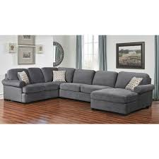Best Deals On Sectional Sofas Abbyson Grey Fabric 4 Sectional Sofa Overstock