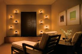 meditation room lighting with wall mounted candle for small spaces