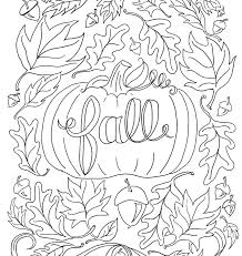 coloring page of fall autumn coloring pages printable gerin