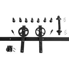 heavy duty strap black rolling barn door hardware kit hpidhp2000