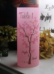 Cherry Blossom Tree Centerpiece by Table Number Luminarie Centerpiece Cherry Blossoms Tree On Blush