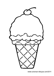 ice cream cone outline clip art clipart