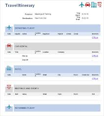 9 best images of travel itinerary template pdf simple travel