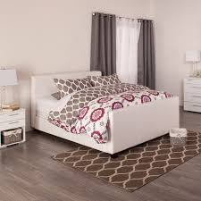 HOFBURG Bed Frame White - White bedroom furniture london ontario
