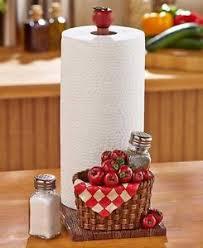 Kitchen Apples Home Decor Paper Towel Holder U0026 Salt U0026 Pepper Set Apples Kitchen Decor
