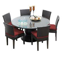 Wicker Dining Patio Furniture Tk Classics Napa 7 Piece Wicker Dining Set With Cushions Modern