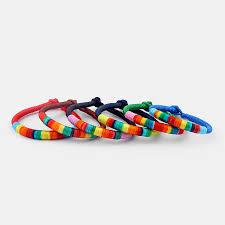 friendship bracelet rainbow images Fashion rainbow korea silk thread string friendship bracelet jpg