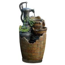 glenville water pump cascading water fountain fcl003 the home depot