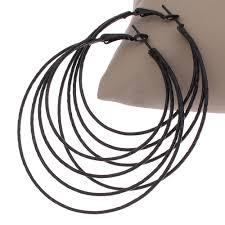 black hoop earrings circle hoop earrings black promotion shop for promotional circle