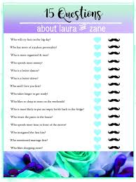 bridal shower game 15 questions download bride and groom