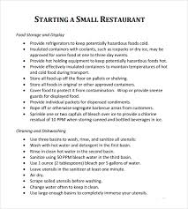 Free Excel Business Plan Template Restaurant Business Plan Sle Restaurant Business Plan Sle
