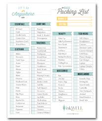 Travel Checklist images Free download travel packing checklist inkwell press png