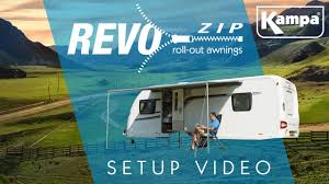 Fiamma Caravanstore Rollout Awning Kampa Revo Zip New For 2017 Setup Video Youtube
