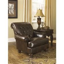Antique Accent Chair Fresco Durablend Antique Accent Chair 6310021 Leather