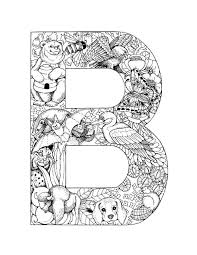 B Coloring Pages Printable Letters Coloring Pages