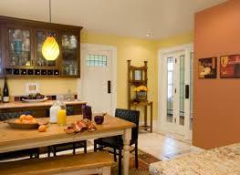 pale yellow wall color and sandy coral wall color for two colors