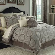 cool comforter sets elegant brown and gray color pattern with