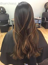 best hair color for a hispanic with roots caramel brown balayage ombré for dark hair types ethnic hair