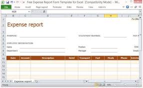 Excel Expense Report Template 9 Expense Report Templates Excel Templates