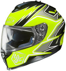 hjc motocross helmet hjc is 17 hi viz graphic