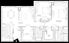 two bedroom two bath floor plans two bedroom two bath with den erickson living