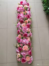 wholesale flowers near me artificial flowers row backdrop flower arch high quality