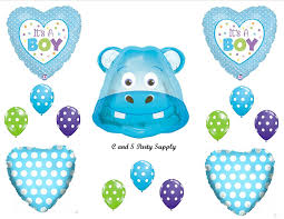 it s a boy decorations it s a boy hippo baby shower balloons decorations