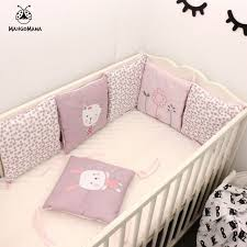 rabbit crib bedding 6pcs a set baby bed bumper crib bedding set baby bed linen rabbit