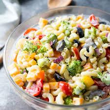 rainbow macaroni salad real housemoms