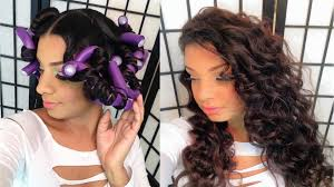 flexi rod set on blown out straight natural hair tutorial youtube