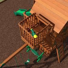 skyfort ii wooden swing set playsets backyard discovery