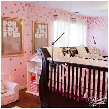 Pink And Gold Bedroom by Pink And Gold Confetti Nursery Deliciously Darling