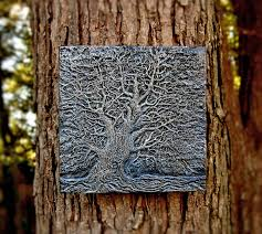Garden Wall Plaque by Weirwood Tree Garden Art Game Of Thrones Art Wall Plaque