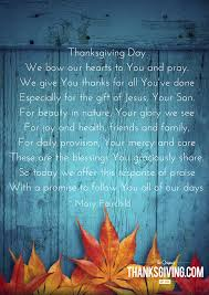 6 thanksgiving blessings prayers