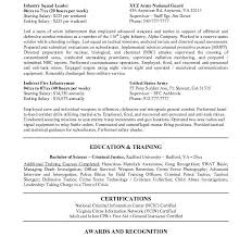 Army Infantry Resume Examples by Lovely Design Federal Resume Samples 9 Best Examples Resume Example
