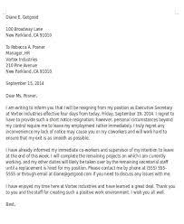 strong resignation letter