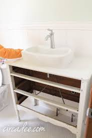 Loose Bathroom Sink Faucet How To Turn A Dresser Into A Vanity And Not Loose Any Drawers