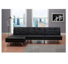 black modern sectional sofa futon convertible sleeper bed couch