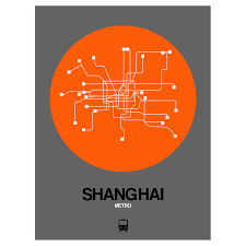 Shanghai Metro Map Shanghai Subway Map Orange Subway City Maps Touch Of Modern