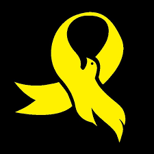 black and yellow ribbon yellow ribbon for prevention dove for inner peace but