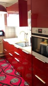 ikea küche rot ikea küche hochglanz rot e geräte mit garantie in nordrhein