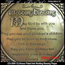 wedding blessing wedding blessing plaque bronze knots gifts