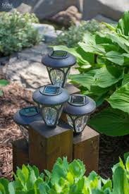 diy cedar cube landscape lights landscaping solar and patches