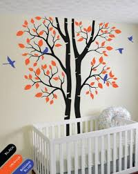 autumn tree wall decal forest stickers nursery wall decor mural Wall Decor Stickers For Nursery