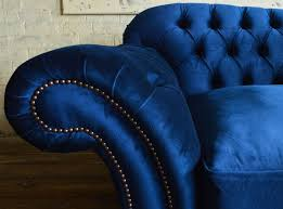 blue chesterfield sofa hammersmith velvet chesterfield sofa abode sofas