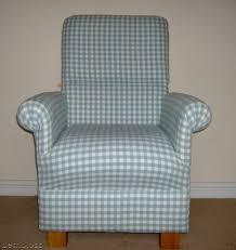 Check Armchair Laura Ashley Duck Egg Gingham Fabric Armchair Green Check Nursery