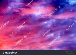 shades of purples great sunset sky clouds all possible stock photo 96898102