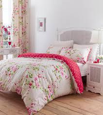 catherine lansfield canterbury red cream polka dot duvet bedding set